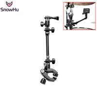 SnowHu Adjustable Instrument Guitar Music Jam Mount Rotating Stage Clamp For GoPro Hero 6 5 3