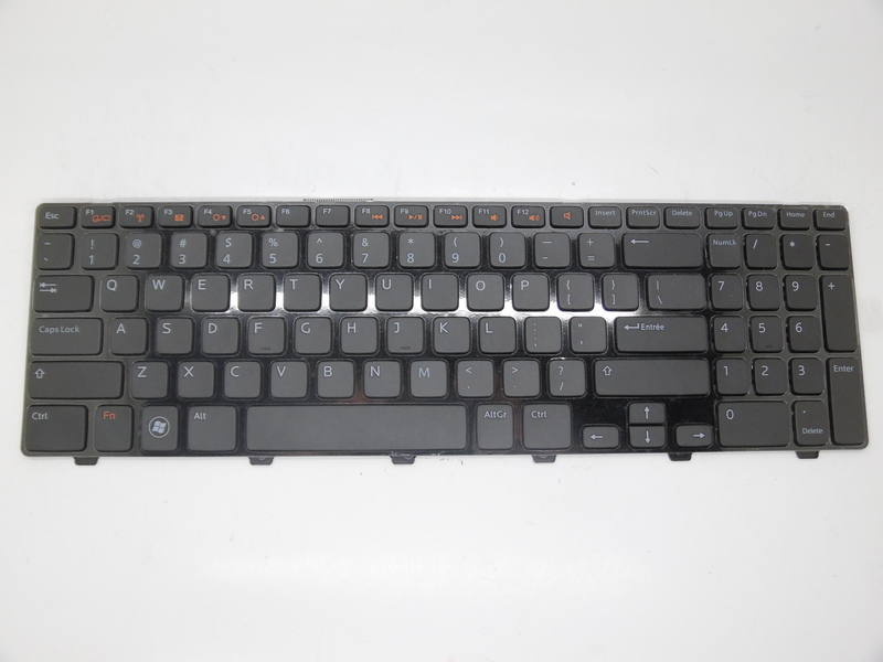RTDPART Laptop Keyboard for DELL I 15R N5110 M5110 black with frame US English V119625AK1 90.41E07.S01