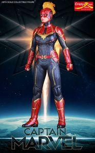 Image 3 - 28 20cmクレイジーおもちゃマーベルアベンジャースーパーヒーローキャプテンマーベル像pvcアクションフィギュアコレクタブルモデル玩具