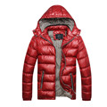 Hooded Removable Jackets 2017 Mens Winter Thick Warm Waterproof Windproof Fashion Zipper Coat Padded Down Outerwear Plus Size