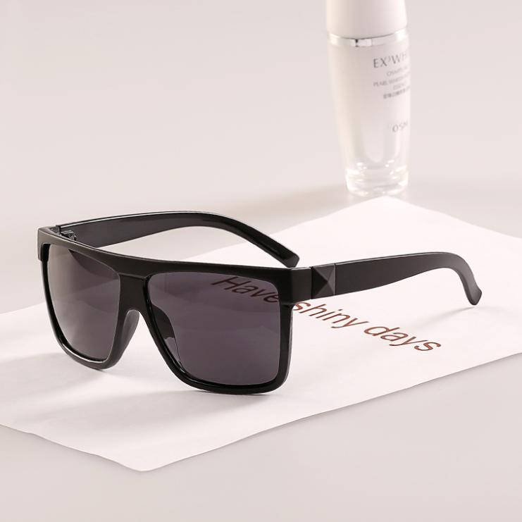 Factory price square flat top toad glasses 2015 women men new fashion sunglasses cute nice sun What style glasses are in fashion 2015