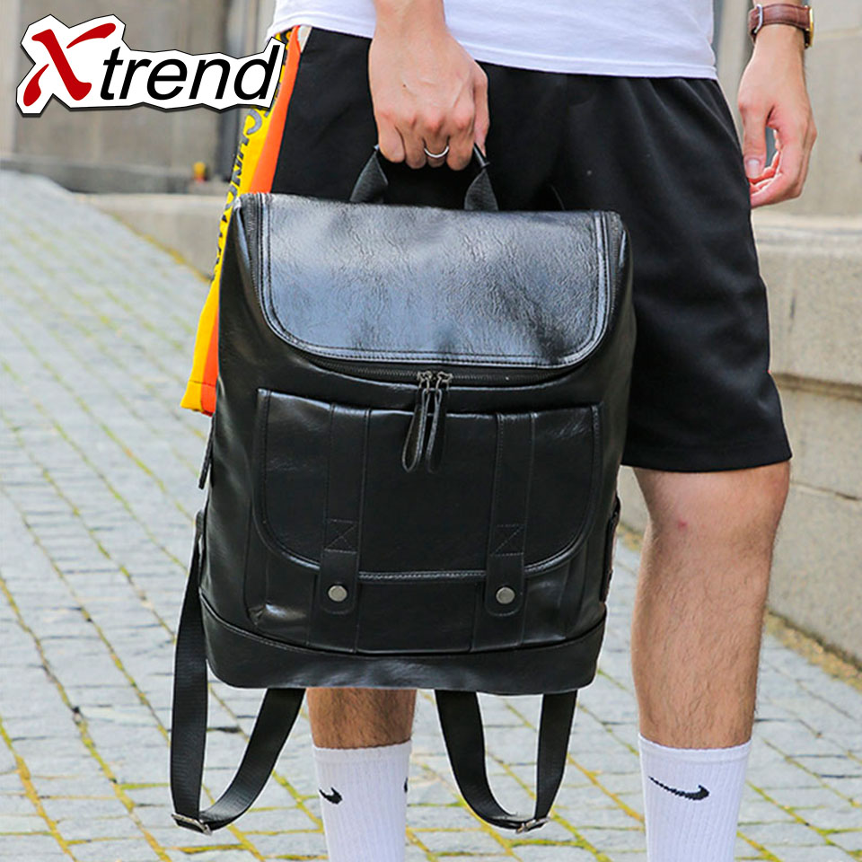 Xtrend Pu Leather Business Men S Office Work Backpack Cool Male