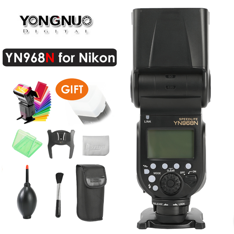 YONGNUO YN968N Wireless Flash Speedlite TTL 1/8000 Equipped with LED Light for Nikon DSLR Compatible with YN622N YN560YONGNUO YN968N Wireless Flash Speedlite TTL 1/8000 Equipped with LED Light for Nikon DSLR Compatible with YN622N YN560