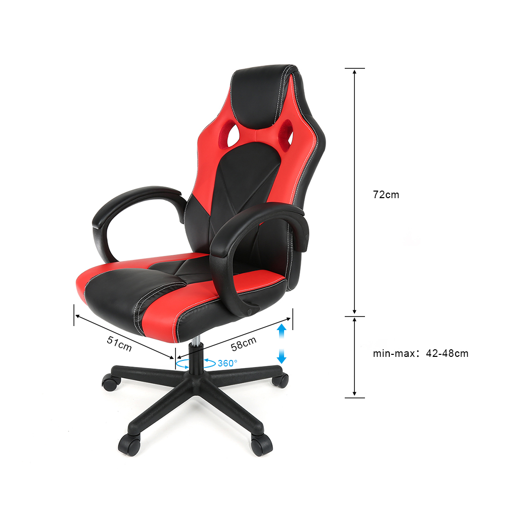 Image 5 - High Quality Adjustable Swivel Home Office Chair Ergonomic High Back Faux Leather Gaming Chair Reclining HWC-in Office Chairs from Furniture