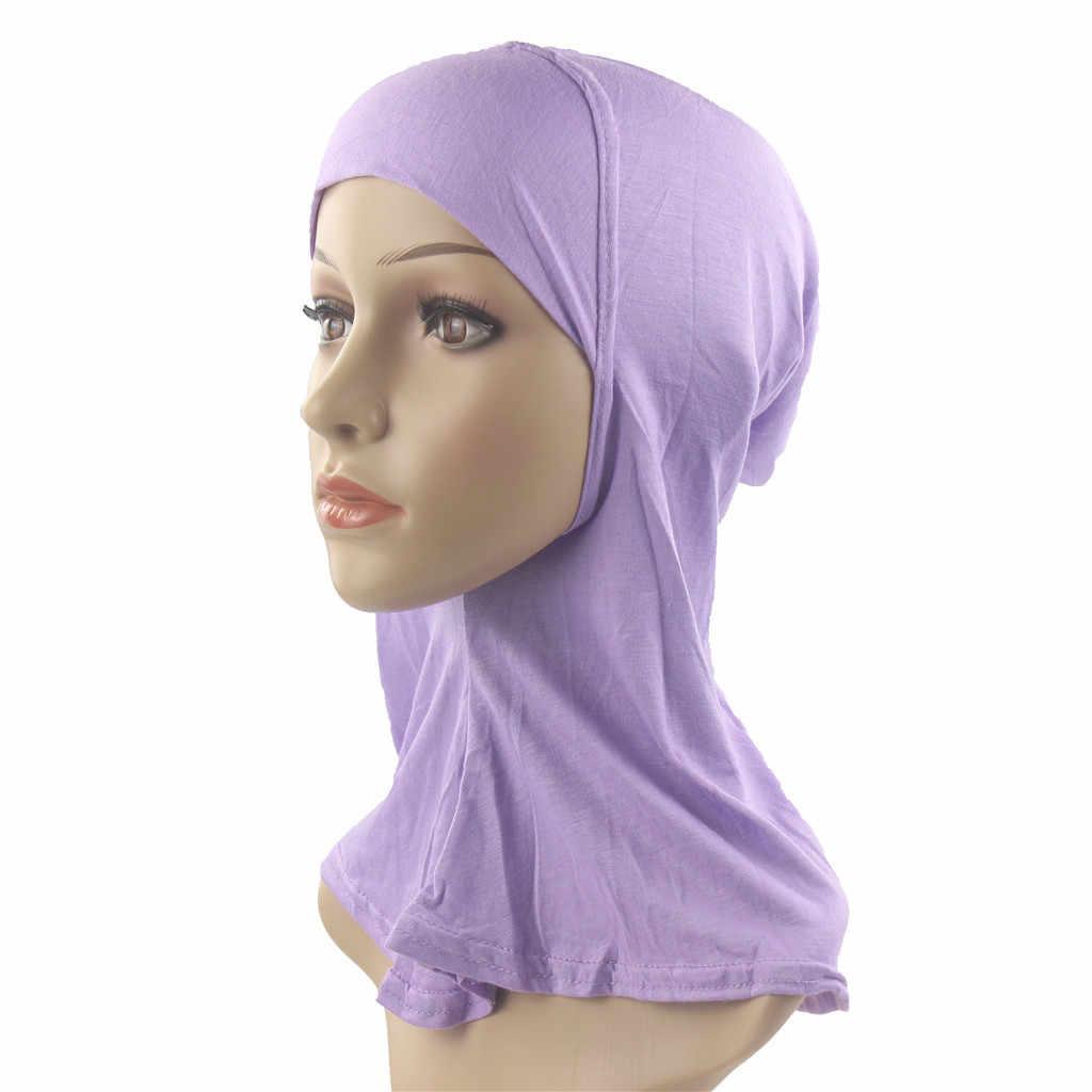 2019 шапка женский шарф модный женский мусульманский стрейч Кепка chemo головной убор тюрбан шапка шарф головной убор шапочка для душа beaniehats