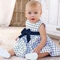 Vestido de bebê adorável novo 2015, vestido para menina bebê, vestidos infantis de primavera, vestido para aniversário de 1 ano, vestido para bebê 0-24 meses