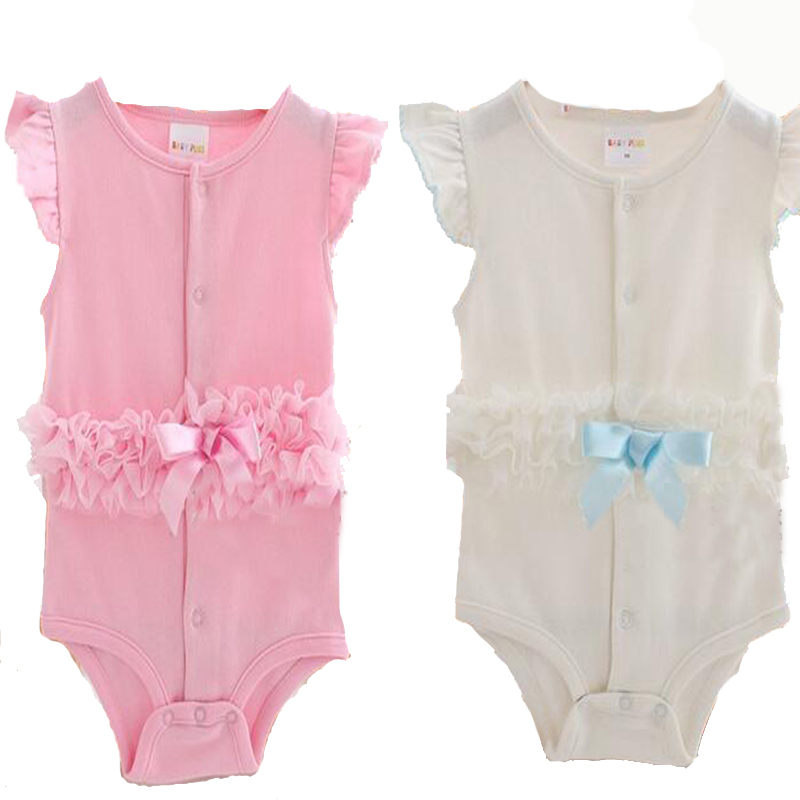 Retail quality summer newborn baby girls clothes Lace  baby rompers princess baby clothing jumpsuit baby girls boys clothes