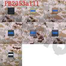 3D ПВХ патч 2 шт. тонкая Голубая линия флаг полиции спецназ резиновые патч