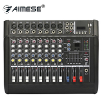 PMX802D Professional Karaoke Audio Sound Mixer 8 Channel Microphone Mixing Amplifier Console With USB Built in 48V Phantom Power