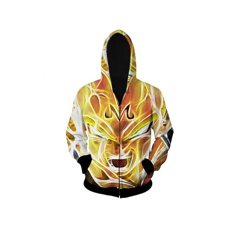 ᗔharajuku classic cartoon dragon ball hoodies outerwear super