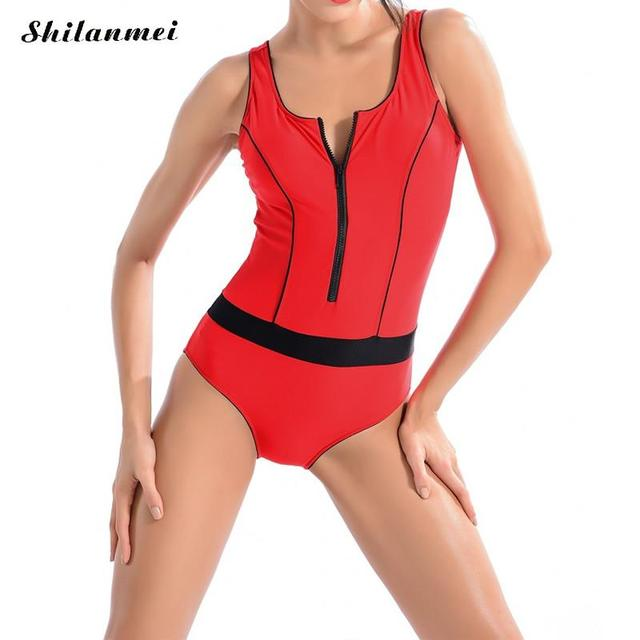 41c3c333bd Red Backless design large size professional swimsuit for women slim curve  thin swimwear swimming bodysuit one-piece suits