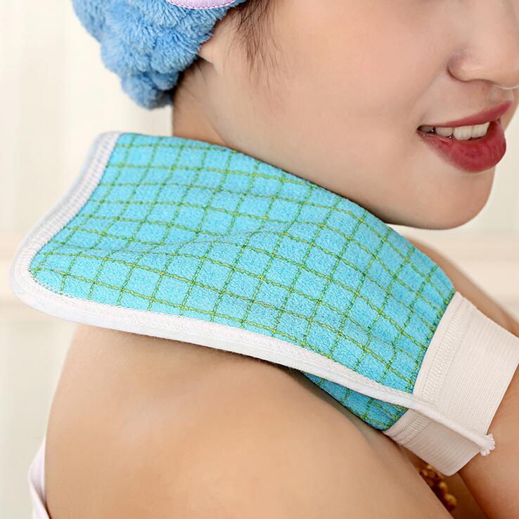 Bath Towel South Kore Rubbing Towel Double-sided Shower Gloves Bath Towel Scrubbers (Color Random)