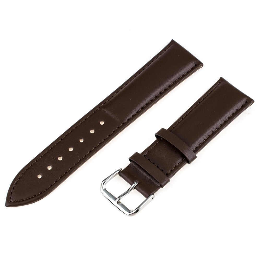 Pasek do zegarka z prawdziwej skóry 16mm 18mm 20mm 22mm 24mm uniwersalny pasek do zegarka pasek bransoletka czarny brązowy + narzędzia + wiosna bary