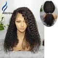 Alicrown Кружева Перед Парик 130% 150% Плотность 180% Полный Шнурок Человека волос Парики Для Чернокожих Женщин Бразильский Вьющиеся Full Lace Wig Детские волос