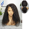 Alicrown Lace Front Wig 130% 150% 180% Density Full Lace Human Hair Wigs For Black Women Brazilian Curly Full Lace Wig Baby Hair