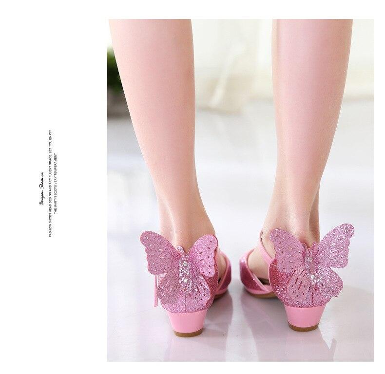 Nova Primavera Verão Crianças Sapatos Altos-sapatos de