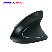 FELYBY Ergonomic Wireless Right Hand Charging/Battery Vertical Silent Mouse 1600DPI Optical Mice For Computer Laptop