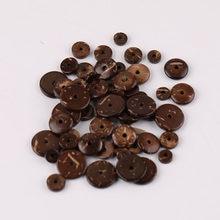 100 stücke 6/8/10/12mm Natürliche Kokosnuss schale Spacer Perlen Flache Runde Perlen für DIY armband Schmuck, Der Pack von 100 stücke