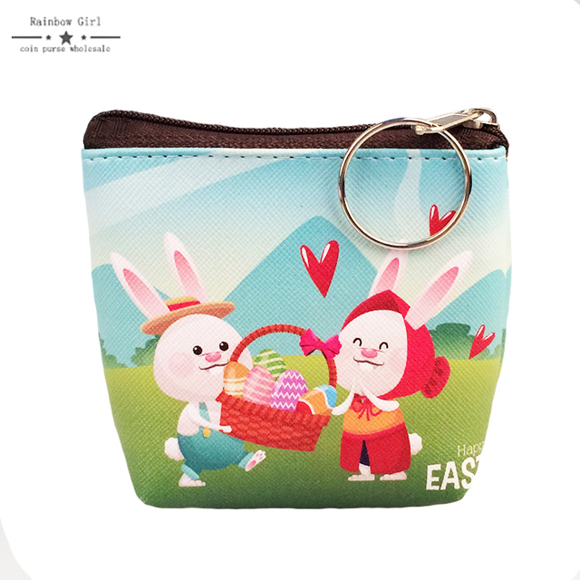 6pcs pu leather happy easter bunny coin purse 6color lovely easter 6pcs pu leather happy easter bunny coin purse 6color lovely easter egg wallet for children lovely negle Images