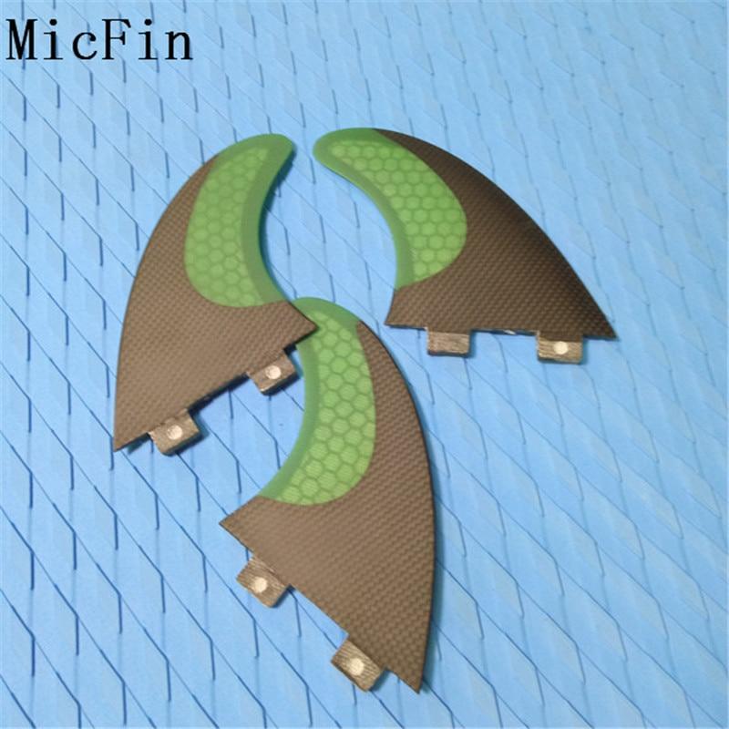 Aletas de tablas de surf de fibra de carbono Micfin Juego de aletas - Deportes acuáticos - foto 3