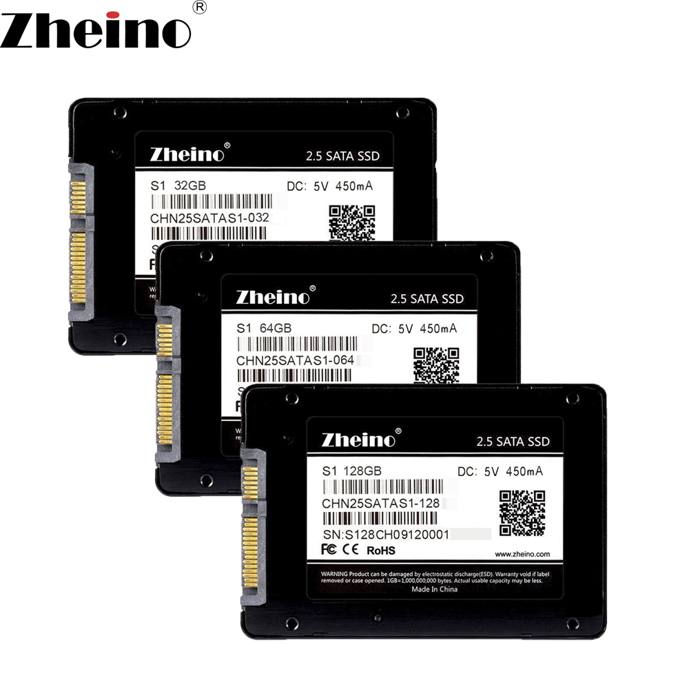Zheino S1 2.5 inch SATA 32GB 64GB 128GB SSD SATA3 Internal Solid Disk Drives (2D MLC NOT TLC)7mm Hard Disk Drive for PC Laptop