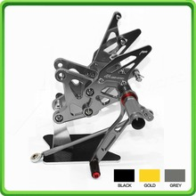 CNC Rearsets rear set sets footrest foot pegs pedal For Kawasaki Ninja ZX6R ZX 6R ZX-6R ZX636 ZX 636 ZX-636 2005-2006 Gray