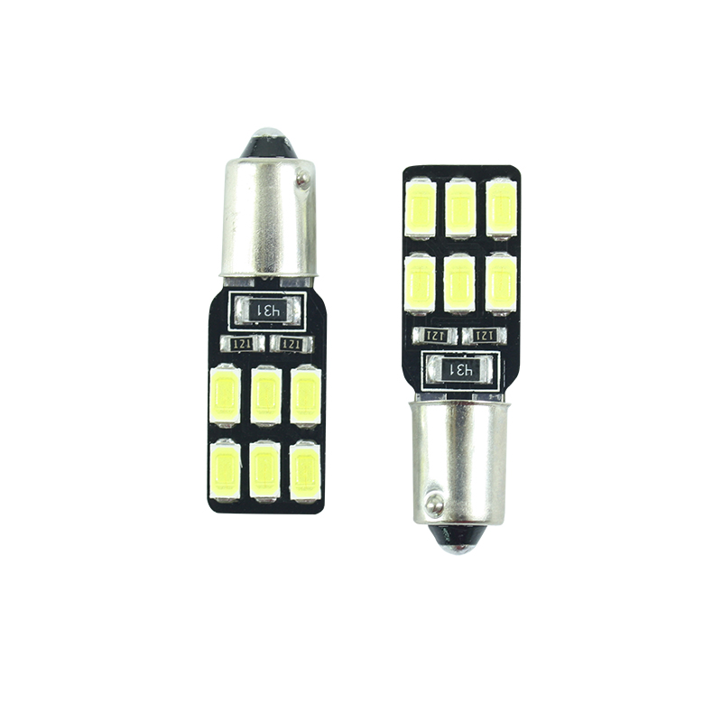 1 pcs LED Ba9s T11 T4W H6W 233 super bright Interior bulbs reading light car light sourse <font><b>12</b></font> <font><b>SMD</b></font> 5630 white DC 12v image