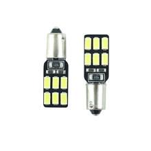 2 stücke LED Ba9s T11 T4W H6W 233 super helle Innen lampen lesen licht auto licht sourse 12 SMD 5630 weiß DC 12v