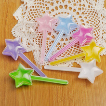12pcs/lot Star Magic Wand Plastic Creative Gift Candy Boxes Childrens Day Baby Shower Kids Birthday Party Jelly Beans Box