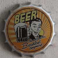 BEER! Tin Sign Vintage Iron Painting Beer Cover Bar KTV Hanging Ornaments Decor Retro Mural Poster Metal Wall Sticker 30x30 CM