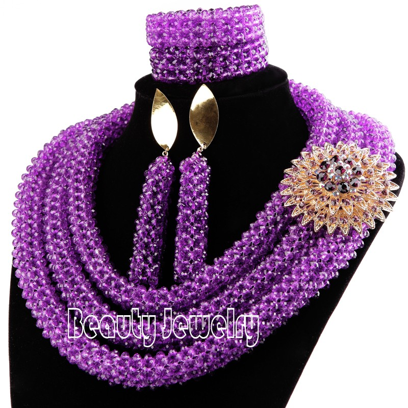 Newest african beads jewelry set 2016 nigerian wedding african ...