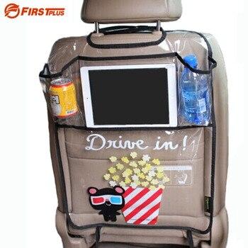 Dikker Milieu PVC Cover Auto Terug Seat Protector Kicking Mat Voor Kids Kinderzitjes-Met Organizer Voor Ipad en drinken