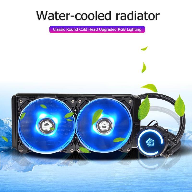 1 ensemble ventilateur cpu refroidisseur d'eau radiateur mis à niveau RGB lumière classique rond bloc d'eau remplissage Type 240 radiateur en aluminium pour Intel/AMD
