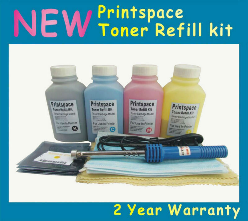 4x NON-OEM Toner Refill Kit + Chips Compatible for HP 504A CE250A CE251A CE252A CE253A 10.5k/7k KCMY