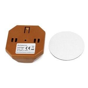 Image 5 - Retekess 433 mhz sem fio garçom sistema de chamada pager 1 pçs relógio receptor t128 + 10pcs botão chamada t133 para restaurante