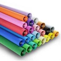 Hot 10pcs Lot 50 50cm 1mm Thickness Scrapbooking Crafts Paper EVA Sponge Foam Paper For Flowers