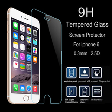 HOT!  9H New Quality Ultra Thin 0.2mm Anti-shatter Tempered Glass For iPhone 4 4s 5 5s 5c 5se 6 6s 6 plus  Screen Protector Film
