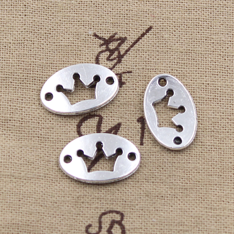6pcs Charms crown link connection 13*20mm Antique Making pendant fit,Vintage Tibetan Silver,DIY bracelet necklace ...