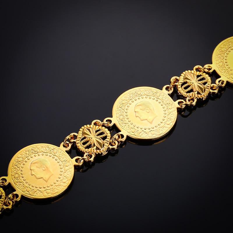 Coin Bracelet Gold Islamic Muslim Arab Coins Bracelet Women Men Arab Middle Eastern Jewelry Bangle africagift
