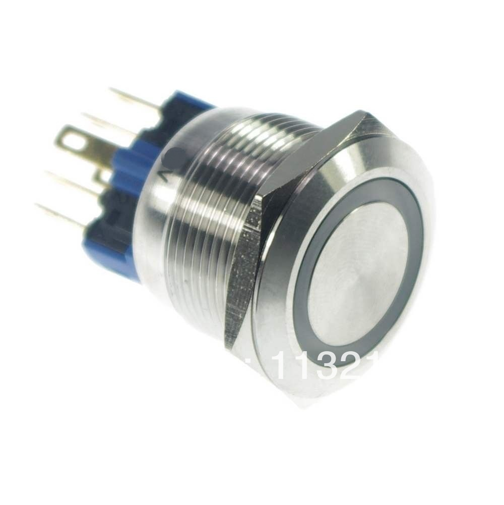 LED Color Red 22mm LED Ring Illuminated  Momentary 1 NO 1 NC  Push Button Switch  Pin Terminals Waterproof free shipping mhs 3206a dual channel nc function dds signal generator counter dds signal source frequency meter 6mhz