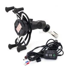 цена на Navigation Phone Holder For SUZUKI HAYABUSA GSX-R 600 GSXR 750 GSXR 1000 Motorcycle Accessories Bracket With USB Charge Port