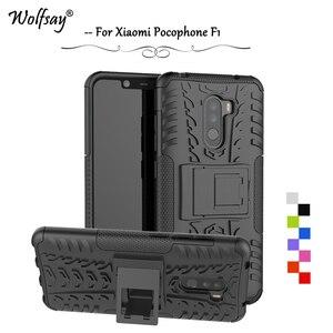 Чехол для Xiaomi Pocophone F1, противоударный армированный резиновый чехол для телефона, бампер для Xiaomi Pocophone F1, защитный чехол для Pocophone F1