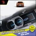 Carro-styling sulco ranhura pad porta interior almofada de látex mat anti-slip para carro honda civic 2016 10th tapete de porta de cobre dedicado