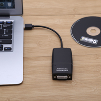High Quality New USB 2 0 To DVI Multi Display Monitor Video Graphic Converter Adapter For