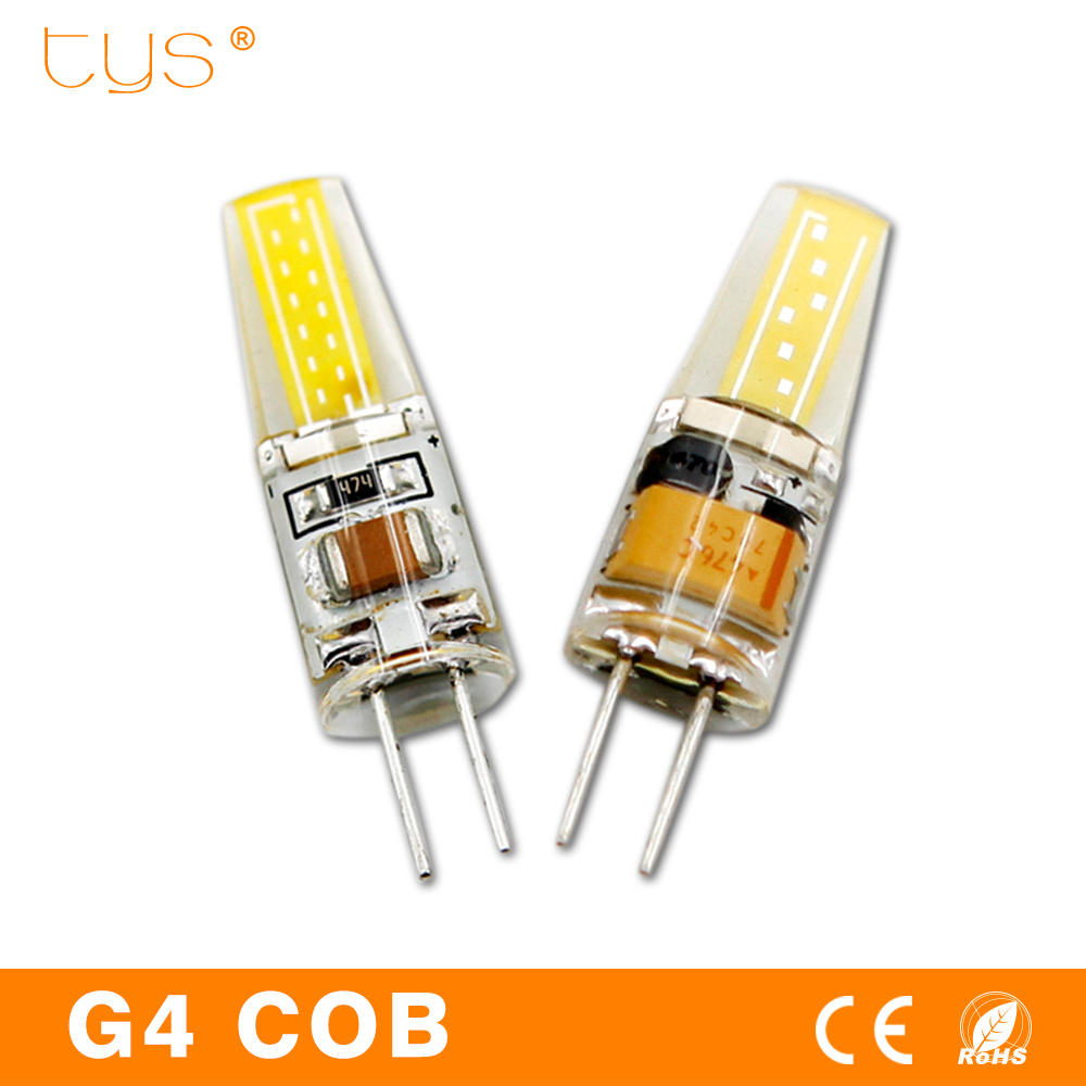 G4 LED Lamp COB Chip LED Bulb 220V AC DC 12V Mini Lampada LED Light Bulb 360 Beam Angle Lights Replace Halogen G4 Chandelier 5pcs lot 2017 g4 ac dc 12v led bulb lamp smd 6w dimmable replace halogen lamp light 360 beam angle luz lampada led