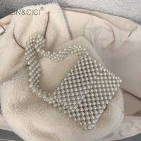 Pearls bag beaded shoulder bag women vintage retro ladies plastic acrylic bag 2019 new ins summer spring new wholesale