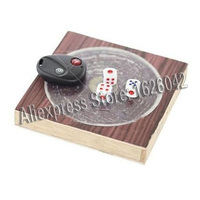 XF Remote Control Dice With 15cm*15cm Board Dice Game Cheat Magic Show Gadget