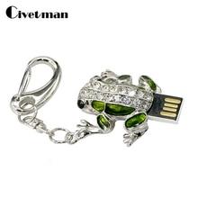 Pendrive Diamond Frog 64GB 32GB 16GB 8GB USB Flash font b Drive b font Pen font
