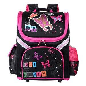 Image 5 - New Girls School Backpacks Children School Bags Orthopedic Backpack Cat Butterfly Bag For Girl Kids Satchel Knapsack Mochila