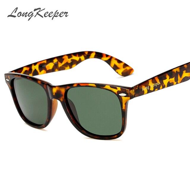 fd8117362b LongKeeper Unisex Fashion Vintage Polarized Sunglasses Man Classic LOGO  Brand Lens Rivets Men Women Retro Sun